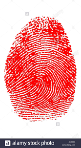 color enhanced thumbprint fingerprints are used as a means of