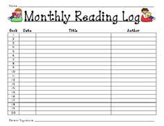 this reading log is a great way for students and teachers to keep