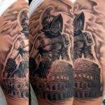 50 gladiator tattoo ideas for men amphitheaters and armor with