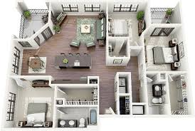 A Three Bedroom House Plan 50 Three U201c3 U201d Bedroom Apartment House Plans Bedroom Apartment