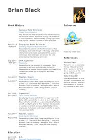 Technician Resume Examples by Field Technician Resume Samples Visualcv Resume Samples Database