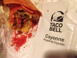 taco bell firecracker burrito cayenne popping crystals
