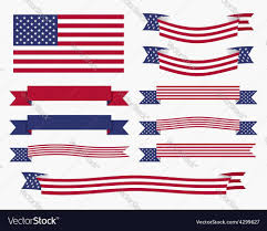 American Flag Design Best Free Top Red White Blue American Flag Ribbon And Banner