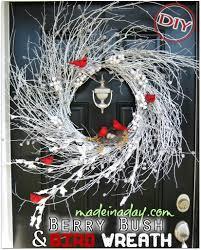 diy berry bush u0026 bird wreath u2013 top easy christmas interior decor