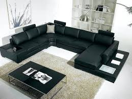 Leather Sectional Sleeper Sofa With Chaise Sectional Napa Oversized Leather Sectional