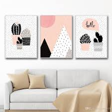 Kids Room Prints by 2017 Canvas Painting Nordic Cactus Wall Art Painting Canvas Poster