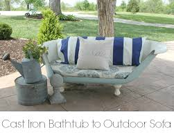 Upcycling Sofa Cast Iron Bathtub To Outdoor Sofa Part 1 Onekriegerchick