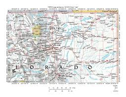 Colorado River Map by Platte River Drainage Basin Landform Origins Colorado Wyoming