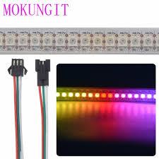 programmable led light strips mokungit 5x 1m sk6812 144pixels m programmable led strip light