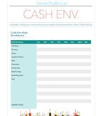 Free Budget Spreadsheet Dave Ramsey budgeting cash envelope worksheet free printables families