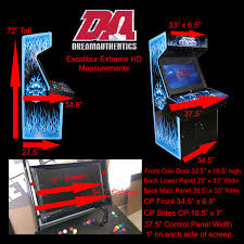 excalibur cabinet dreamauthentics retro video arcade cabinets