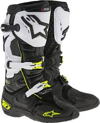 motorcycle riding boots 380 64 alpinestars mens tech 10 boots 194792