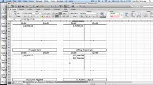 Journal Entry Template Excel Intermediate Journal Entries T Accounts And Trial Balance
