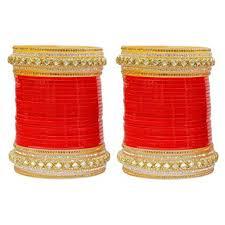 wedding chura with name buy muchmore work metal bridal chura bangle set for women
