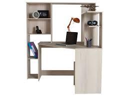 bureau d angle bureau d angle groove coloris acacia vente de bureau conforama