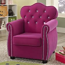 Childrens Faux Leather Armchair Crown Mark Amelia Contemporary Pink Kids Chair With Tufted Back