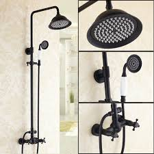 Exposed Outdoor Shower Fixtures - chester exposed shower mixer set without bath spout in antique