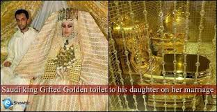 wedding gift gold saif rahman on solid gold toilet wedding gift by saudi