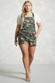 Plus Size Camouflage Clothing Plus Size Camo Overall Shorts Forever 21 Plus 2000268202