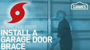 How Big Is A Garage Installing A Garage Door Brace Hurricane Prep Youtube