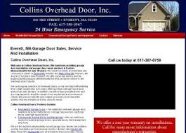 Collins Overhead Doors Everett Ma Collins Overhead Door In Everett Ma 404 3rd St Everett Ma