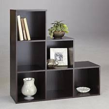 Cubic Bookcase 6 Cube Step Storage Unit Shelf Bookcase Home Office Organizer Wood
