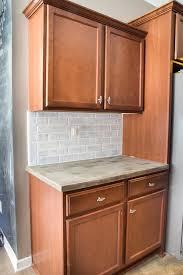 faux brick kitchen backsplash remodelaholic diy whitewashed faux brick backsplash