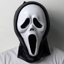 Halloween Costumes Scream Mask Opening Mouth Scream Ghost Scary Face Mask Halloween Costume