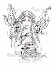 norma burnell pictures color advanced fairy coloring pages