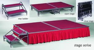 aluminum portable mobile folding stage from rk