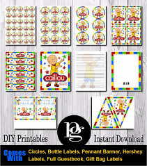 caillou party supplies boys party themes match my party theme