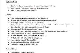 Dental Assistant Resume Samples by Sample Resume For Dental Application Archives Resume