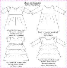 pattern for simple long skirt emma knit dress and tunic