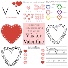 the life of jennifer dawn v is for valentine preschool printables