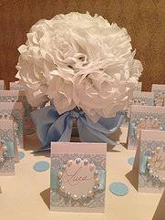 baptism centerpieces all about the presentation greenwich wedding bridal favors