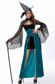 witch costumes teal storybook vintage witch costume witch costumes for