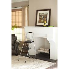 cosco 3 step big step folding stool 200lb 17 3 4w x 28d x 45 5