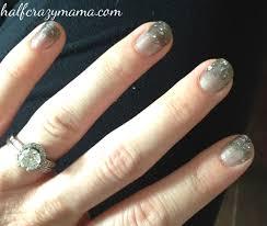 glitter ombre nail polish half crazy mama