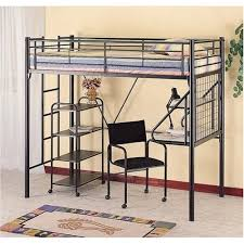 Loft Bed With Futon Chair Black Metal Twin Futon Loft Bunk Bed - Metal bunk bed with desk