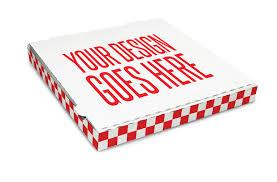 personalized pizza boxes menus marketing presto foods michael baker