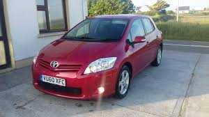 used toyota auris 2010 petrol 1 3 burgundy for sale in clare