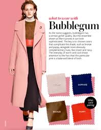 pink complimentary color what to wear with bubblegum pinterest color combos