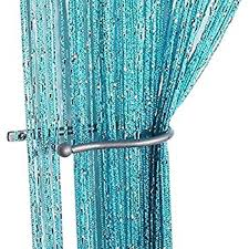 String Tassel Curtains Amazon Com Edal Colorful Window Fringe Wall Panel Room Divider
