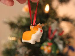 christmas tree corgi reindeer rudolf decoration new year