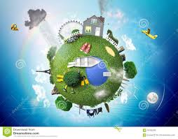 house planet little planet with the house stock image image 59782009