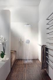 Scandinavian Bathroom Design Bathroom Brown Tile Wall And Tile Flooring Stainless Shower