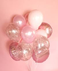 balloon delivery island pink balloon bouquet confetti balloons pink balloons