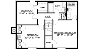 2 bedroom 2 bath house plans traditional style house plan 3 beds 2 00 baths 1487 sq ft plan