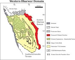 13 sketch map of the western dharwar craton showing major