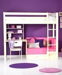bunk bed with desk and futon open travel